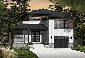 Contemporary House Plan 76361 Elevation