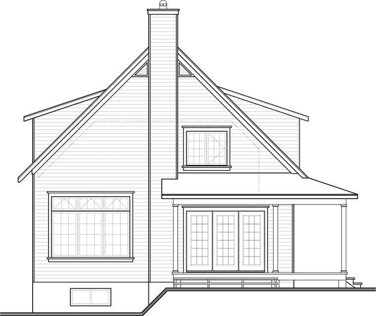 Country House Plan 76364 Rear Elevation