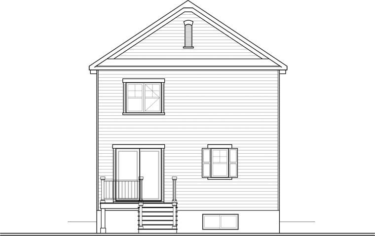 Country House Plan 76365 Rear Elevation