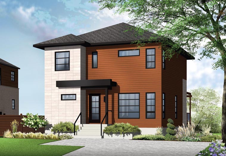 Contemporary Modern House Plan 76366 Elevation