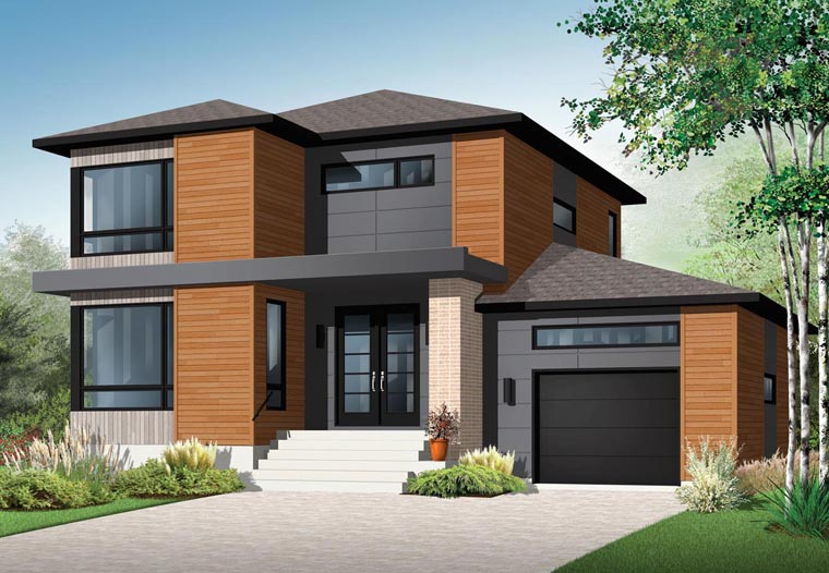Contemporary House Plan 76367 Elevation