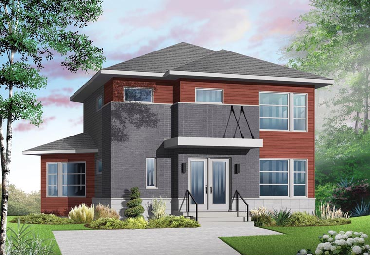 Contemporary Modern Elevation of Plan 76369