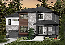 Contemporary House Plan 76370 Elevation