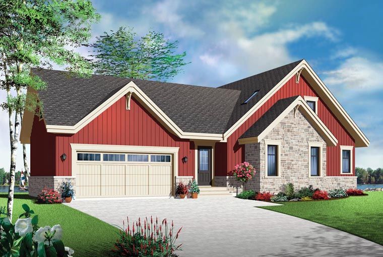 Cottage Country Craftsman House Plan 76372 Elevation