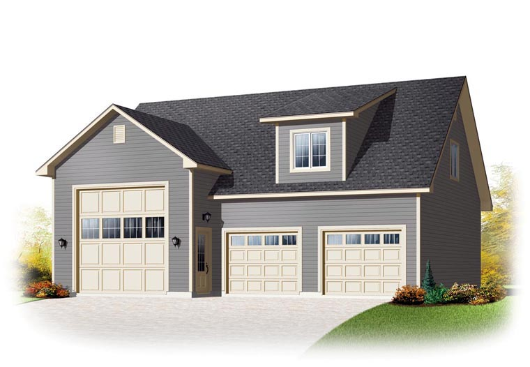 Country Garage Plan 76374 Elevation