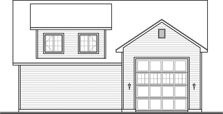 Country Garage Plan 76374 Rear Elevation