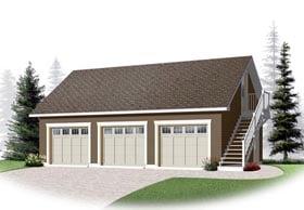 3 Car Garage Apartment Plan 76375 Elevation