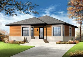 Plan Number 76381 - 1084 Square Feet