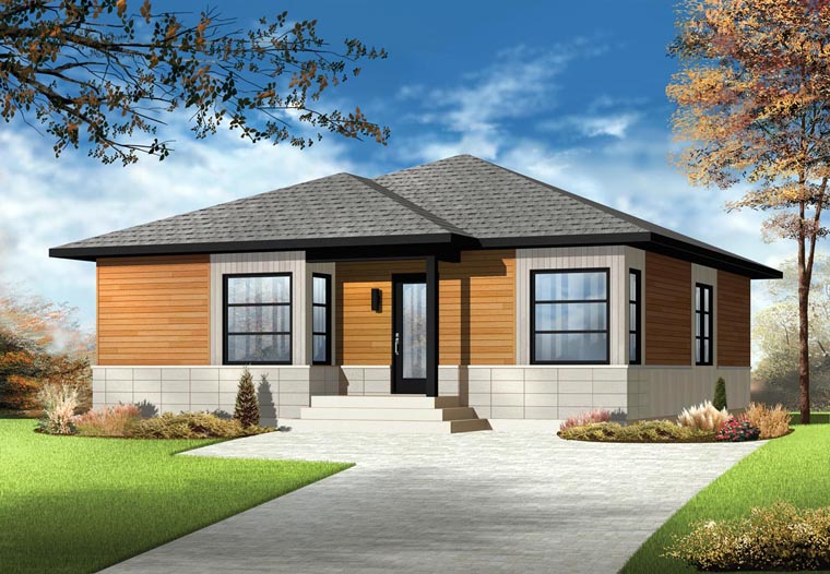 Contemporary House Plan 76381 Elevation