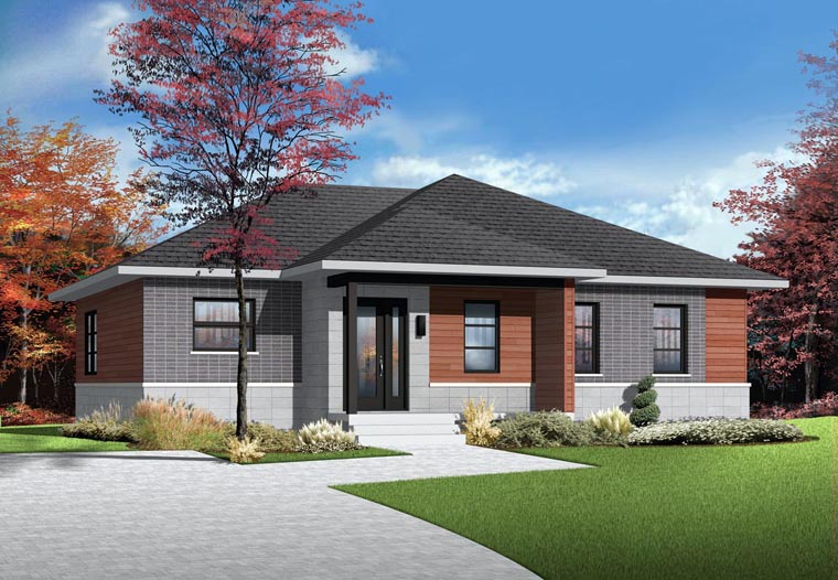 Contemporary House Plan 76383 Elevation