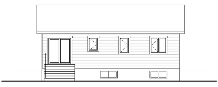 Country Traditional House Plan 76384 Rear Elevation