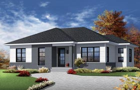 Contemporary House Plan 76386 Elevation