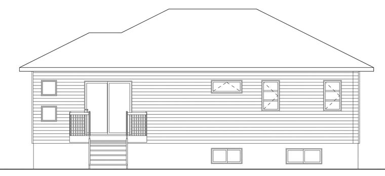 Contemporary House Plan 76386 Rear Elevation