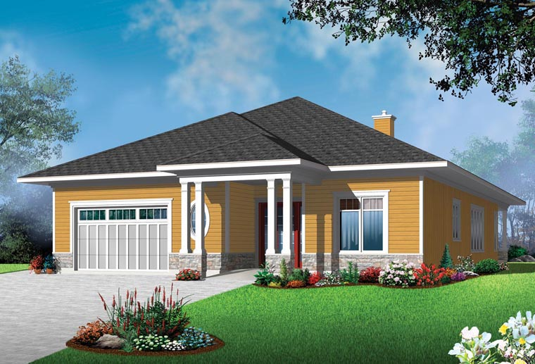 House Plan 76388 Elevation