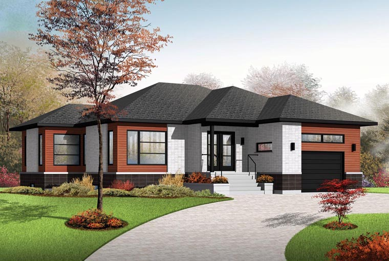 Contemporary House Plan 76390 Elevation