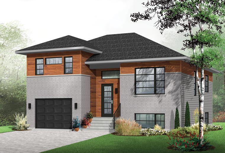 Contemporary House Plan 76391 Elevation