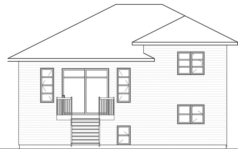 Contemporary House Plan 76391 Rear Elevation