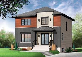 House Plan 76392 | Contemporary Style Plan with 1700 Sq Ft, 3 Bedrooms, 2 Bathrooms Elevation