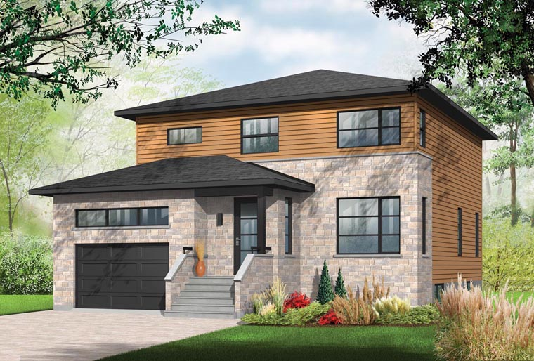 Contemporary House Plan 76394 Elevation