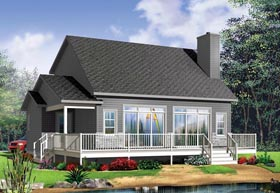 Cottage House Plan 76396 with 3 Beds, 2 Baths Elevation