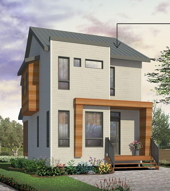 Contemporary House Plan 76398 Elevation