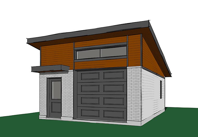 Contemporary Modern Elevation of Plan 76401
