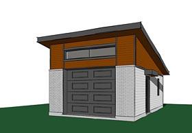 Contemporary Modern Garage Plan 76402 Elevation
