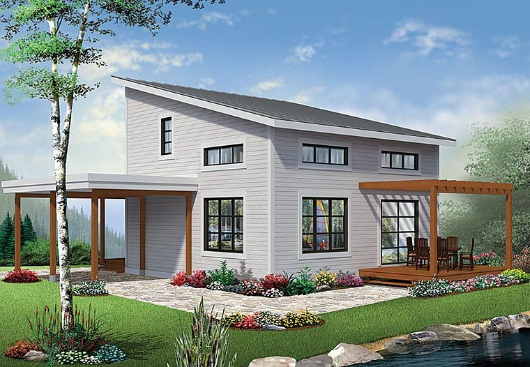 Contemporary Modern House Plan 76405 Elevation