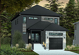 Contemporary Modern House Plan 76412 Elevation