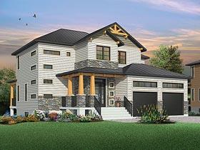 Contemporary Craftsman Modern House Plan 76419 Elevation