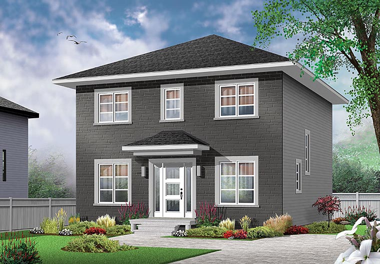 Contemporary European Traditional House Plan 76420 Elevation
