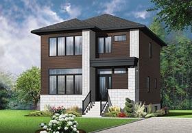 Contemporary Modern House Plan 76421 Elevation