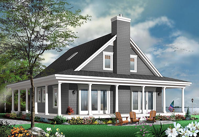 Contemporary, Country, Traditional House Plan 76423 with 4 Beds, 4 Baths Elevation