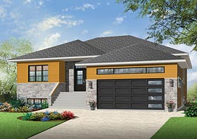 Contemporary Southwest House Plan 76432 Elevation