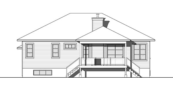 Contemporary Southwest House Plan 76432 Rear Elevation