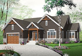 Craftsman Traditional Tudor House Plan 76433 Elevation