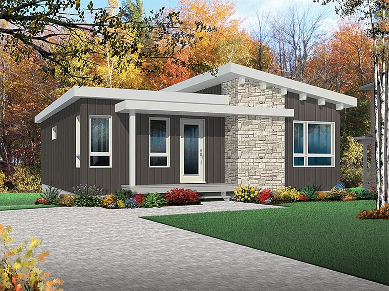 Contemporary Cottage Modern House Plan 76436 Elevation