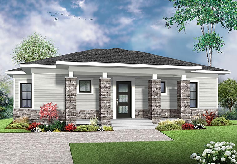 Contemporary Modern House Plan 76437 Elevation