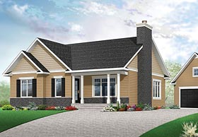 Traditional House Plan 76438 Elevation