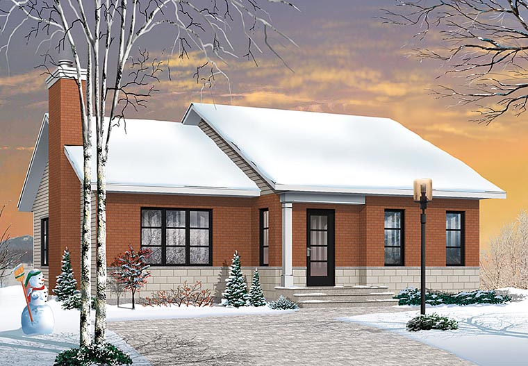 Ranch House Plan 76440 with 2 Beds , 1 Baths Elevation