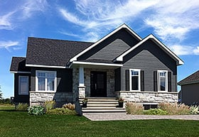 Cottage , Craftsman , Traditional House Plan 76444 with 2 Beds, 1 Baths Elevation
