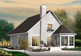 Traditional , Southern , Cottage House Plan 76452 with 4 Beds, 3 Baths Elevation