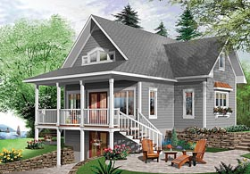 Bungalow Cottage Country Traditional House Plan 76453 Elevation