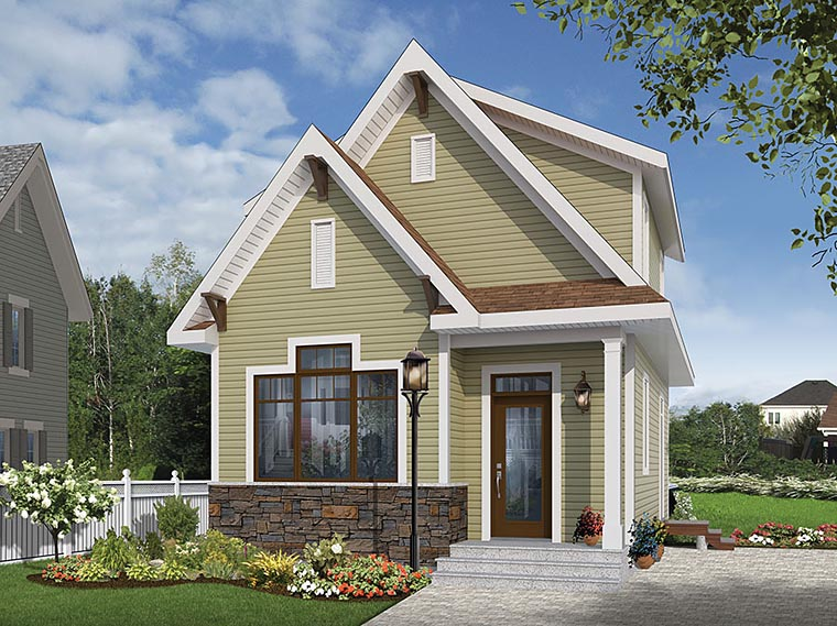 Cottage , Country , Craftsman , Tudor House Plan 76458 with 3 Beds, 2 Baths Elevation