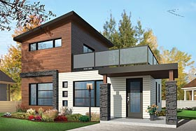 Contemporary Modern House Plan 76461 Elevation