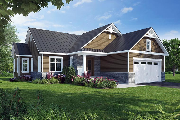Bungalow Cottage Country Craftsman House Plan 76464 Elevation