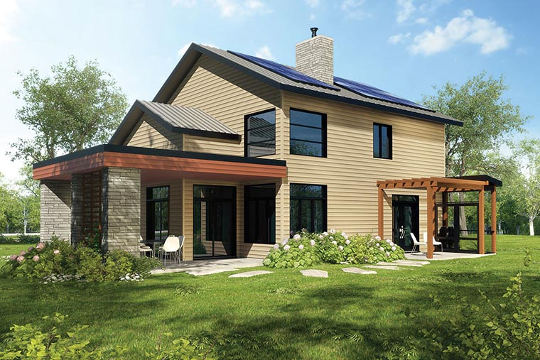 Country Traditional House Plan 76465 Rear Elevation
