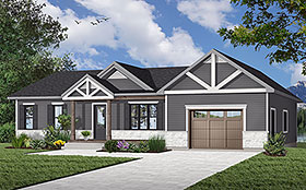 Bungalow Craftsman Ranch Traditional House Plan 76467 Elevation