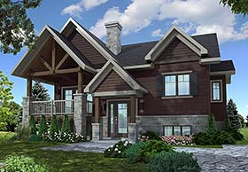 Contemporary , Country , Craftsman House Plan 76468 with 2 Beds, 1 Baths Elevation