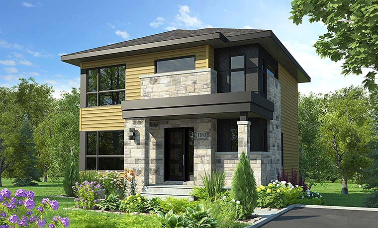Contemporary Modern House Plan 76469 Elevation